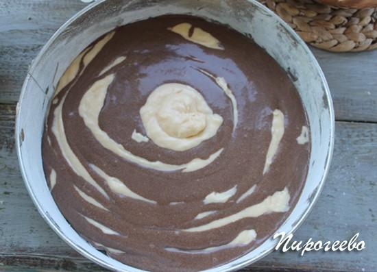 Кекс зебра на сметане рецепт с фото пошагово