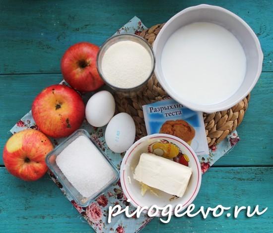 Как приготовить манник на кефире с яблоками