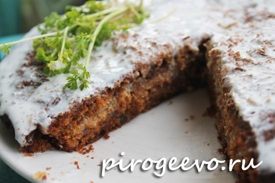 Морковный торт с пряными коржами рецепт с фото пошагово