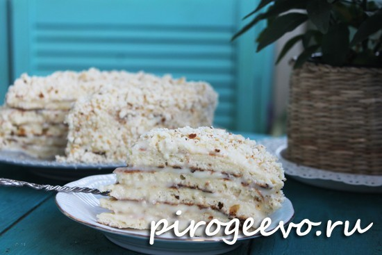Торт со сгущенкой на сковороде рецепт с фото