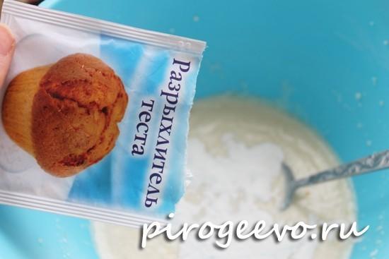 В тесто для печенья из творога нужно добавить разрыхлитель