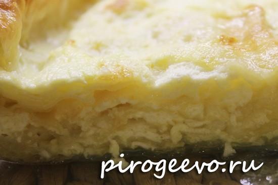 Вкусный слоеный пирог с сыром