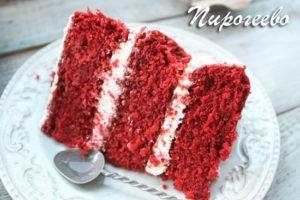 """Торт """"Красный бархат"""" в разрезе"""
