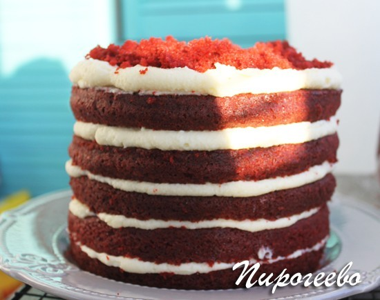 """Торт """"Красный бархат"""" оригинальный рецепт"""