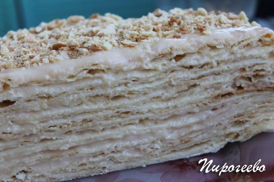 """Торт """"Наполеон"""" классический рецепт с заварным кремом"""