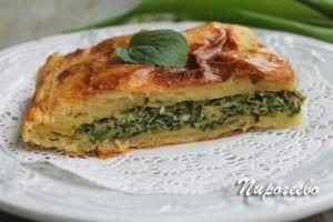 Пирог из слоеного теста рецепт с фото пошагово