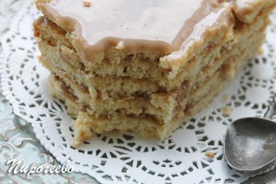 Вкусный торт Ленинградский в разрезе