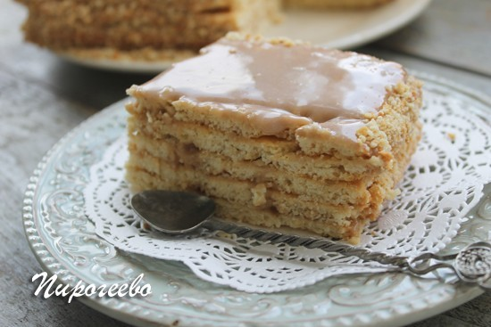 Красивый разрез торта по ГОСТУ