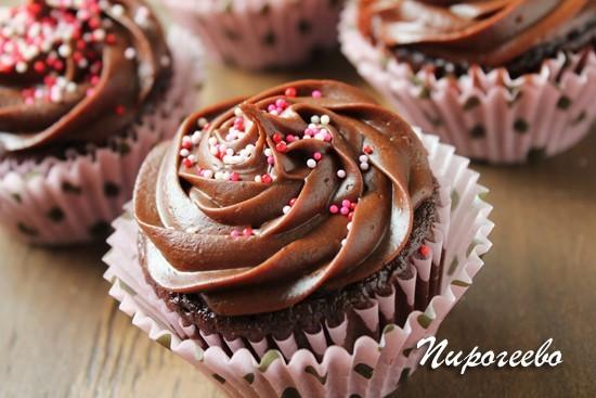 Крем шоколадный ганаш для капкейков