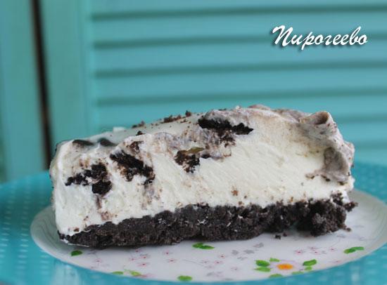 Вкусный чизкейк без выпечки с печеньем орео