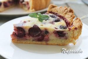 Как приготовить пирог с черешней