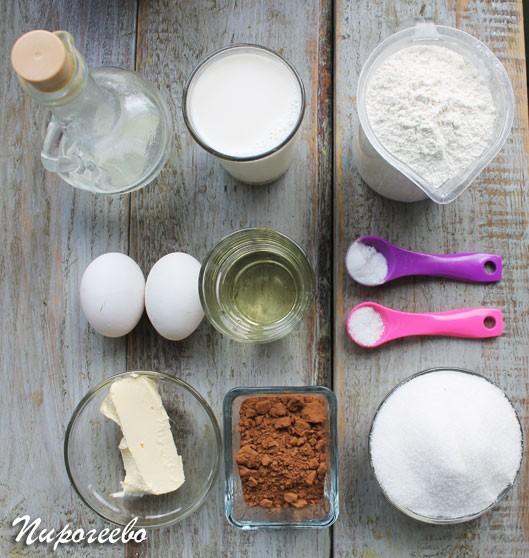 Ингредиенты для торта с вишней