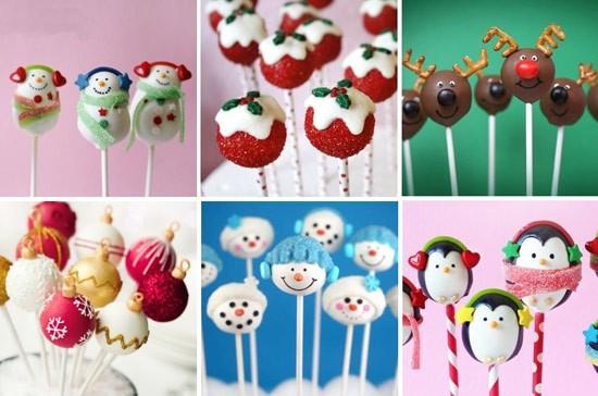 Новогодние кейк-попсы рецепт с фото