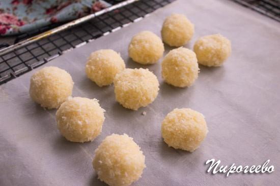 Как сделать печенье Кокосанка из кокосовой стружки