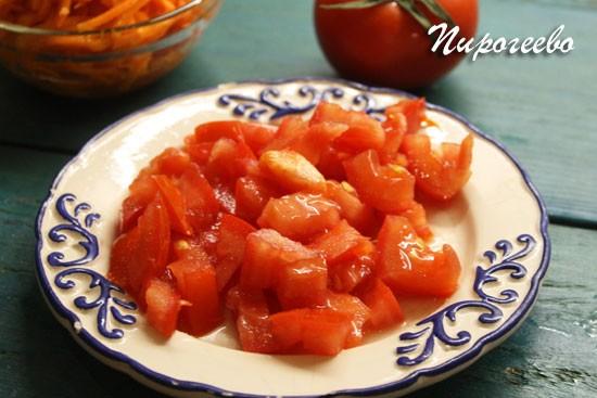 Домашняя шаурма с помидорами и с курицей