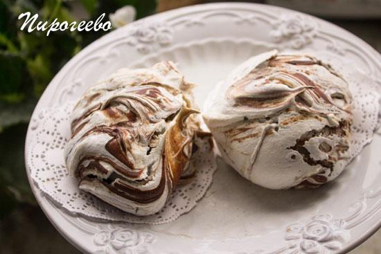 Шоколадные безе рецепт с фото