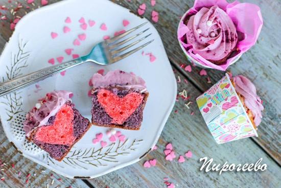 Красивые капкейки на день Святого Валентина