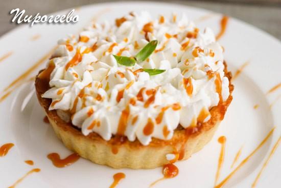 Вкусный песочный пирог Баноффи рецепт с фото