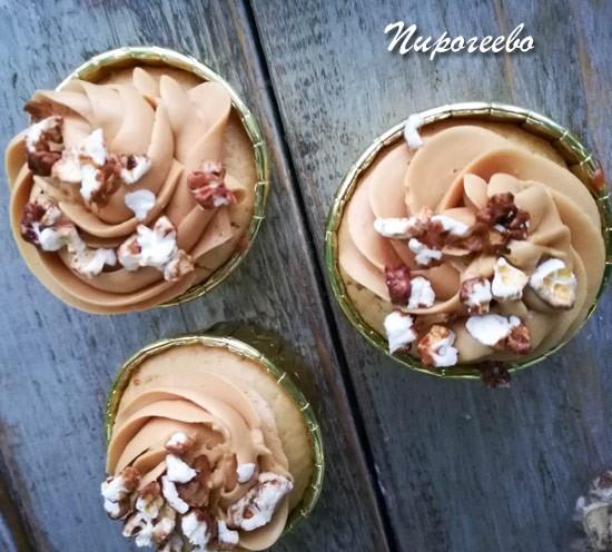 Карамельные капкейки рецепт с фото пошагово