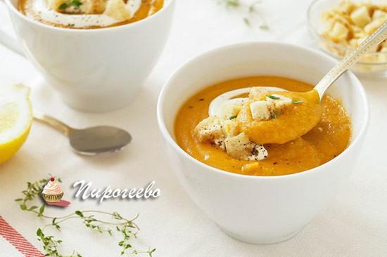 Суп-пюре из красной чечевицы - рецепт пошаговый с фото