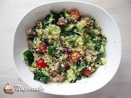 Салат с кускусом и овощами подробный рецепт