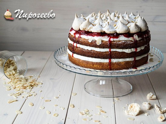 Собираем торт с клубникой рецепт с фото