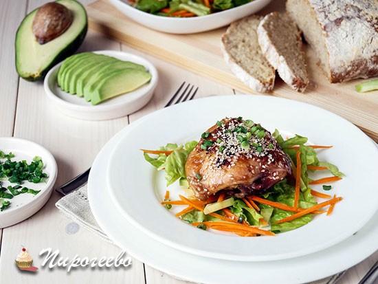 Куриные окорочка в духовке в имбирном соусе