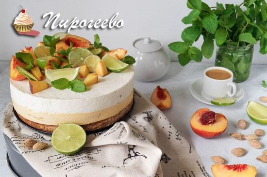Как приготовить вкусный чизкейк с персиками