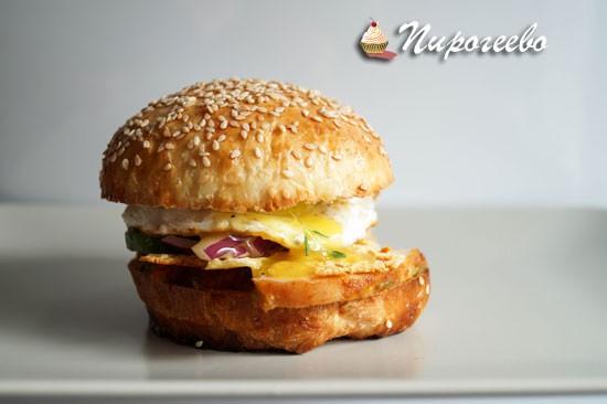 Домашний вкусный сэндвич