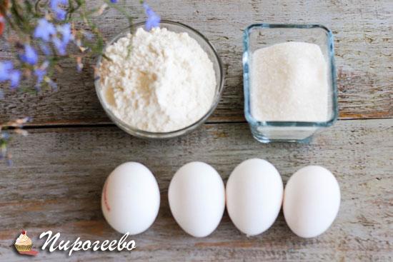 Ингредиенты для классического бисквита