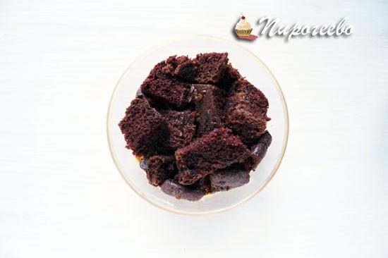 Бисквит из капкейков-брауни