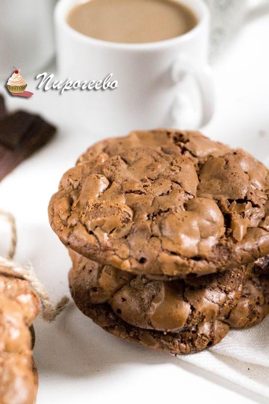 Двойное шоколадное печенье рецепт с фото