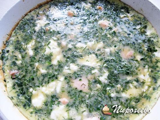 Рецепт фритатты с лососем и сыром