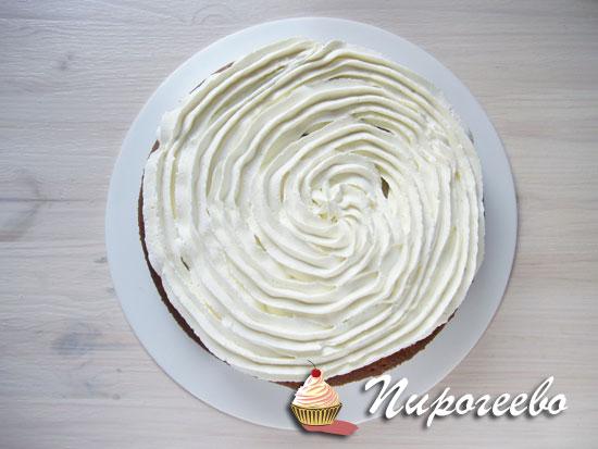 Торт с воздушным кремом чиз