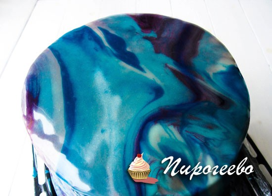 Галактическая глазурь для торта пошаговый рецепт