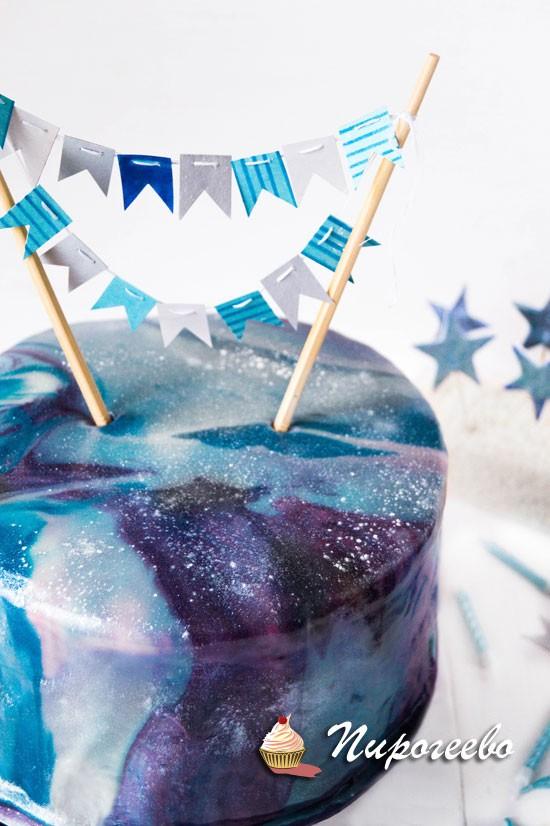 Космическая глазурь для торта