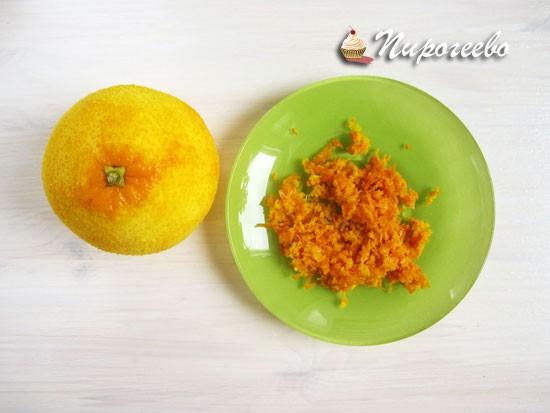 Снять с апельсина цедру
