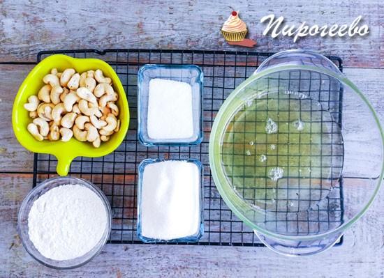 Ингредиенты для торта Киевский