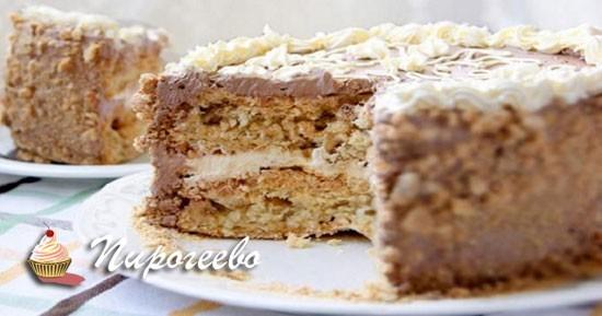 Разрез торта Киевский