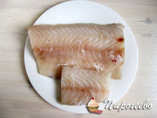 Филе рыбы промыть, обсушить