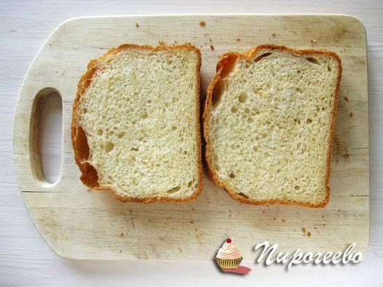 Нарезать хлеб ломтиками