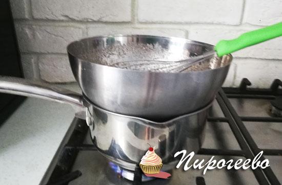 Поставить все ингредиенты на водяную пару