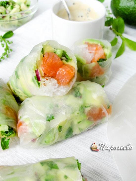 Вкусные роллы с лососем