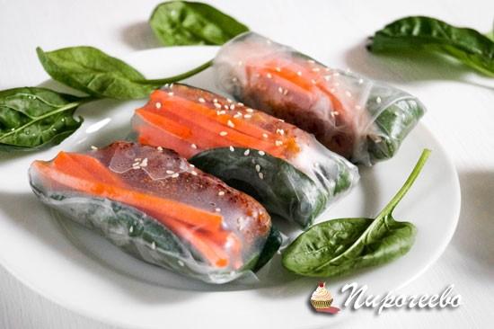 Как приготовить салатные роллы в домашних условиях