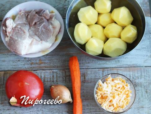 Ингредиенты для картошки по-французски