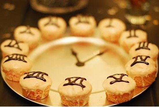 Новогодние капкейки-часы