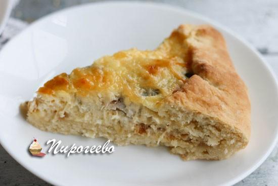 Получается вкусный и ароматный пирог