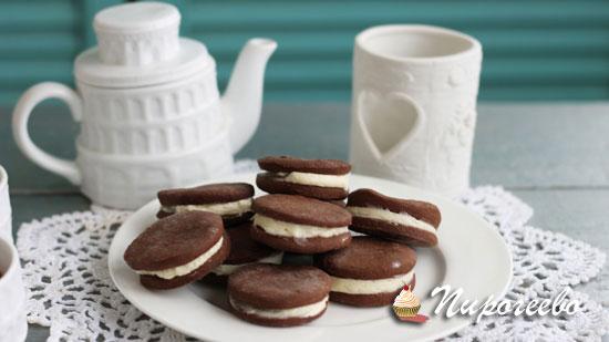Вкусное шоколадное печенье Орео