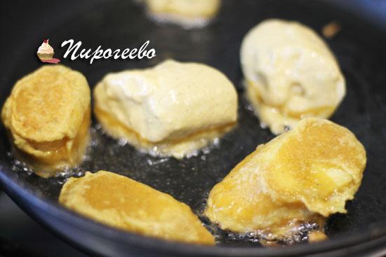 Рецепт жареных бананов в кляре