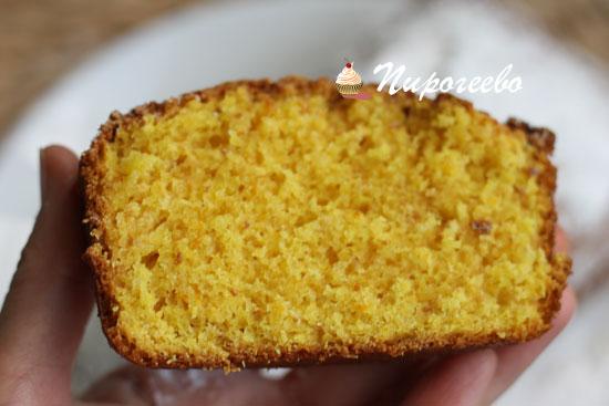 Апельсиновый кекс в разрезе